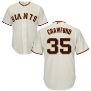Wholesale Cheap Giants #35 Brandon Crawford Cream Cool Base Stitched Youth MLB Jersey