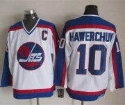 Wholesale Cheap Jets #10 Dale Hawerchuk White/Blue CCM Throwback Stitched NHL Jersey