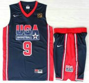 Wholesale Cheap USA Basketball 1992 Olympic Dream Team #9 Michael Jordan Blue Jerseys & Shorts