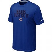 Wholesale Cheap Nike Chicago Bears Just Do It Blue T-Shirt