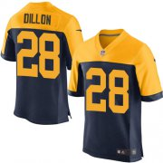 Wholesale Cheap Nike Packers #28 AJ Dillon Navy Blue Alternate Men's Stitched NFL New Elite Jersey