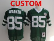 Wholesale Cheap Men's Custom New York Jets Green Throwback Jersey