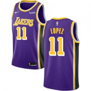 Wholesale Cheap Nike Los Angeles Lakers #11 Brook Lopez Purple NBA Swingman Statement Edition Jersey