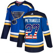 Wholesale Cheap Adidas Blues #27 Alex Pietrangelo Blue Home Authentic USA Flag Stitched Youth NHL Jersey