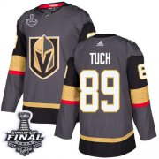 Wholesale Cheap Adidas Golden Knights #89 Alex Tuch Grey Home Authentic 2018 Stanley Cup Final Stitched NHL Jersey