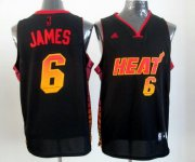 Wholesale Cheap Miami Heat #6 LeBron James 2012 Vibe Black Fashion Jersey