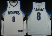Wholesale Cheap Minnesota Timberwolves #8 Zach LaVine Revolution 30 Swingman 2014 New White Jersey