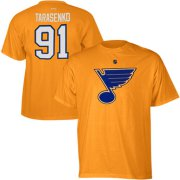 Wholesale Cheap St. Louis Blues #91 Vladimir Tarasenko Reebok Name and Number Player T-Shirt Gold