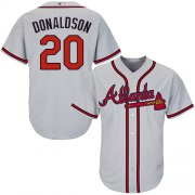 Wholesale Cheap Braves #20 Josh Donaldson Grey Cool Base Stitched Youth MLB Jersey