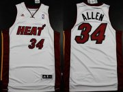 Wholesale Cheap Miami Heat #34 Ray Allen Revolution 30 Swingman White Jersey