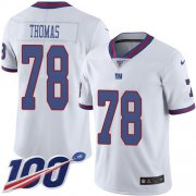 Wholesale Cheap Nike Giants #78 Andrew Thomas White Youth Stitched NFL Limited Rush 100th Season Jersey