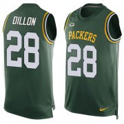 Wholesale Cheap Nike Packers #28 AJ Dillon Green Team Color Men's Stitched NFL Limited Tank Top Jersey