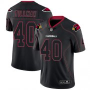 Wholesale Cheap Nike Cardinals #40 Pat Tillman Lights Out Black Men's Stitched NFL Limited Rush Jersey