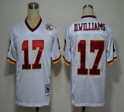 Wholesale Cheap Mitchell and Ness 50TH Redskins #17 Doug Williams White Stitched NFL Jersey