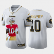 Cheap San Francisco 49ers #10 Jimmy Garoppolo Nike Team Hero Vapor Limited NFL 100 Jersey White Golden