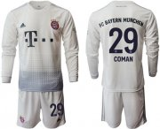 Wholesale Cheap Bayern Munchen #29 Coman Away Long Sleeves Soccer Club Jersey