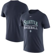 Wholesale Cheap Seattle Mariners Nike Away Practice T-Shirt Navy