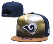 Wholesale Cheap Rams Team Logo Navy Adjustable Leather Hat TX