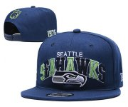 Wholesale Cheap Seahawks Team Logo Navy 1976 Anniversary Adjustable Hat YD
