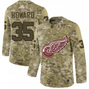 Wholesale Cheap Adidas Red Wings #35 Jimmy Howard Camo Authentic Stitched NHL Jersey