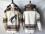 Wholesale Cheap Coyotes Blank Cream Camo NHL Hoodie