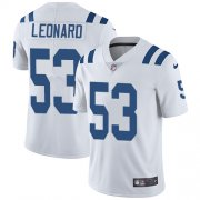 Wholesale Cheap Nike Colts #53 Darius Leonard White Youth Stitched NFL Vapor Untouchable Limited Jersey