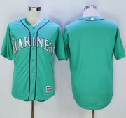 Wholesale Cheap Mariners Blank Green New Cool Base Stitched MLB Jersey