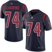 Wholesale Cheap Nike Texans #74 Max Scharping Navy Blue Men's Stitched NFL Limited Rush Jersey