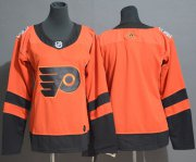 Wholesale Cheap Adidas Flyers Blank Orange Authentic 2019 Stadium Series Women's Stitched NHL Jersey