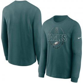 Wholesale Cheap Philadelphia Eagles Nike Icon Legend Performance Long Sleeve T-Shirt Midnight Green