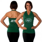 Wholesale Cheap Women's All Sports Couture New York Jets Blown Coverage Halter Top