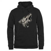 Wholesale Cheap Men's Arizona Coyotes Black Rink Warrior Pullover Hoodie