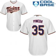 Wholesale Cheap Twins #35 Michael Pineda White Cool Base Stitched Youth MLB Jersey