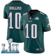Wholesale Cheap Nike Eagles #10 Mack Hollins Midnight Green Team Color Super Bowl LII Men's Stitched NFL Vapor Untouchable Limited Jersey