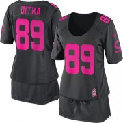 Wholesale Cheap Nike Bears #89 Mike Ditka Dark Grey Women's Breast Cancer Awareness Stitched NFL Elite Jersey