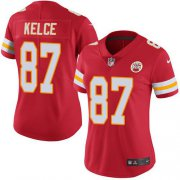 Wholesale Cheap Nike Chiefs #87 Travis Kelce Red Team Color Women's Stitched NFL Vapor Untouchable Limited Jersey