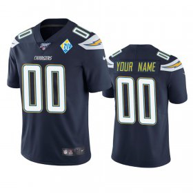 Wholesale Cheap Los Angeles Chargers Custom Navy 60th Anniversary Vapor Limited NFL Jersey