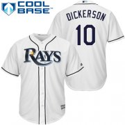 Wholesale Cheap Rays #10 Corey Dickerson White Cool Base Stitched Youth MLB Jersey