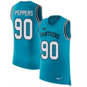 Wholesale Cheap Nike Panthers #90 Julius Peppers Blue Alternate Men's Stitched NFL Limited Rush Tank Top Jersey