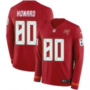 Wholesale Cheap Nike Buccaneers #80 O. J. Howard Red Team Color Men's Stitched NFL Limited Therma Long Sleeve Jersey