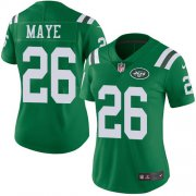 Wholesale Cheap Nike Jets #26 Marcus Maye Green Women's Stitched NFL Limited Rush Jersey
