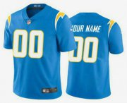 Wholesale Cheap Men's Los Angeles Chargers Customized Electric 2020 New Blue Vapor Untouchable Stitched Limited Jersey