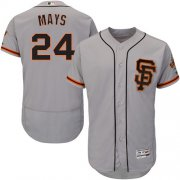 Wholesale Cheap Giants #24 Willie Mays Grey Flexbase Authentic Collection Road 2 Stitched MLB Jersey