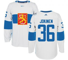 Wholesale Cheap Team Finland #36 Jussi Jokinen White 2016 World Cup Stitched NHL Jersey
