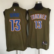 Wholesale Cheap Oklahoma City Thunder #13 Paul George Olive Nike Swingman Jersey