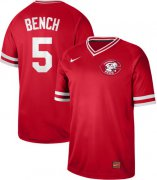 Wholesale Cheap Nike Reds #5 Johnny Bench Red Authentic Cooperstown Collection Stitched MLB Jersey