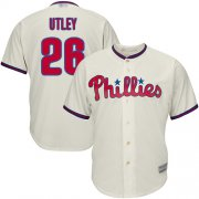 Wholesale Cheap Phillies #26 Chase Utley Stitched Cream Youth MLB Jersey