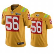 Wholesale Cheap Los Angeles Rams #56 Dante Fowler Jr Gold Vapor Limited City Edition NFL Jersey