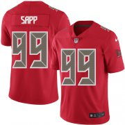 Wholesale Cheap Nike Buccaneers #99 Warren Sapp Red Men's Stitched NFL Limited Rush Jersey