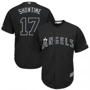 "Wholesale Cheap Angels of Anaheim #17 Shohei Ohtani Black ""Showtime"" Players Weekend Cool Base Stitched MLB Jersey"